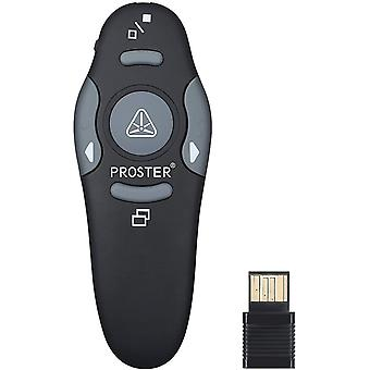 Wireless Presenter 2.4GHz Wireless USB PowerPoint PPT Presenter Remote Control with Red Pointer for