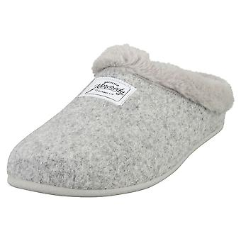 Mercredy Slipper Grey Womens Slippers Shoes in Grey