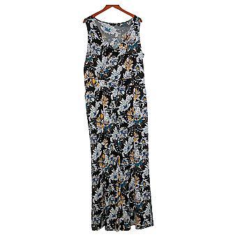 G av Giuliana Kvinners Jumpsuits Plus Strikket Floral Black 649943