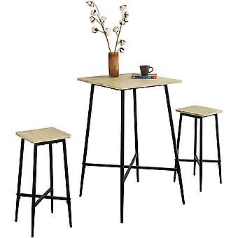 SoBuy OGT48-N Zestaw Stół barowy i 2 stołki barowe
