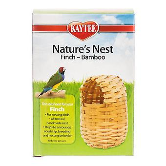 "Kaytee Nature's Nest Bamboo Nest - Pinson - Régulier - (3.75""L x 3.75""L x 4.5""H)"