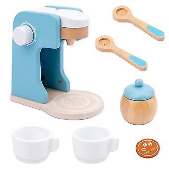 Wooden Pretend Play Simulation Kitchen Machine Toaster Food Mixer Toys