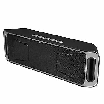 Speakers grey wireless bluetooth speaker super bass usb rechargeable stereo loudspeaker
