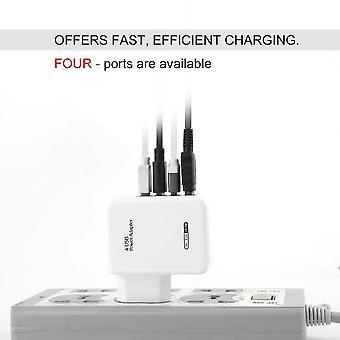 4 יציאות USB Hub מתאם כוח קיר הביתה נסיעות מטען עבור טלפון חכם