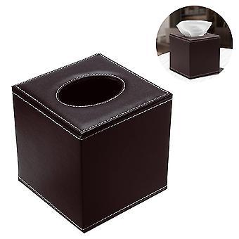 Piele țesut Box Holder-negru