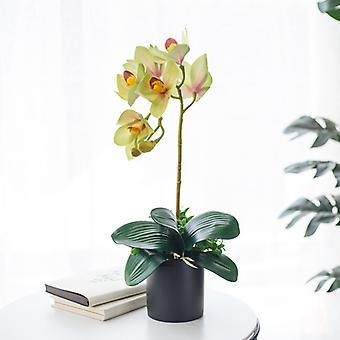 منزل الديكور محاكاة Phalaenopsis Bonsai بوعاء النبات