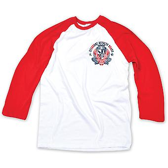 Dethrone Overthrow Badge Raglan Shirt - White/Red