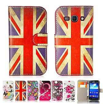 Design book PU leather case cover for Samsung Galaxy Ace 3 (s7270) - Union Jack UK Flag