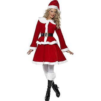 Miss Santa Nikolaus naisten puku muffinssi