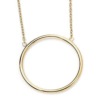 9ct Gold Circle Collana