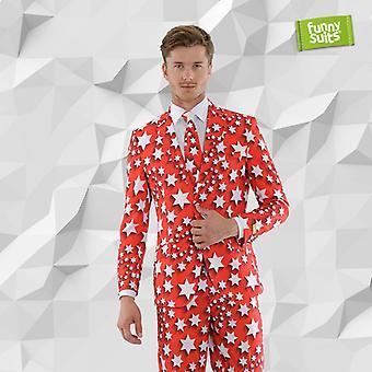 Starzky asterisk Starman suit 3-piece costume deluxe EU SIZES