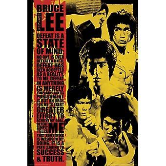 Bruce Lee - nederlag är en stat i åtanke Montage affisch affisch Skriv