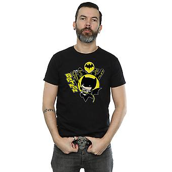 DC Comics Men's Chibi Batman Swinging T-Shirt