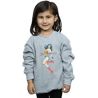 DC Comics Girls Wonder Woman Jump Sweatshirt