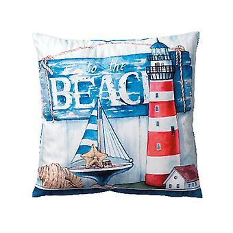 Ambiente To The Beach Velvet Cushion 34x34cm