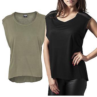 Urban classics ladies - zipped shoulder HiLo top shirt