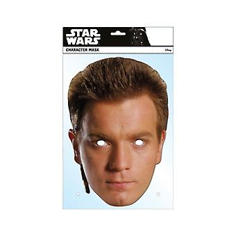 Obi-Wan Kenobi Official Star Wars Single Card 2D Party Fancy Dress Mask