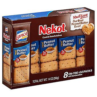 Lance Nekot Cookie Sandwiches Peanut Butter