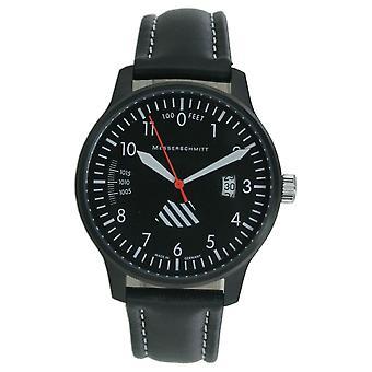 Aristo gentlemen Messerschmitt Fliegeruhr ME-42ALTI-L leather watch