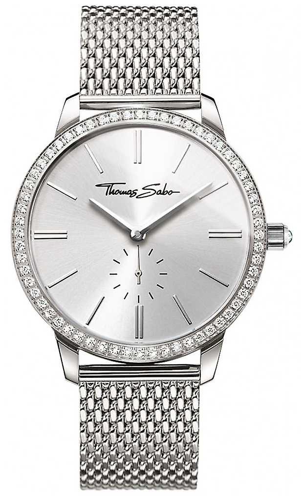 Thomas Sabo Womens Glam And Soul Glam Spirit Silver Mesh Bracelet WA0316-201-201-33