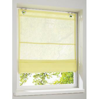 Heine home Mar­Vel­LOUS slightly transparent Roman shade yellow with hook and eye closure