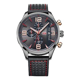 Mens Watch Black Red Boys Smart Analogue Watches Rose Gold Present Mini Focus