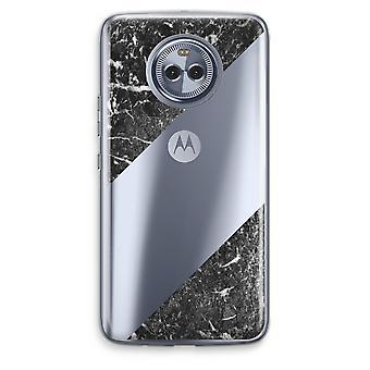 Motorola Moto X4 boîtier Transparent (doux) - marbre noir
