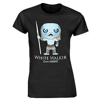 Gioco di troni t-shirt bianco cartone animato Walker