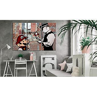 Painting - Inspired Banksy: Warning90x60