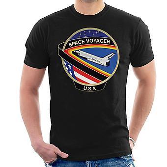 NASA STS 61C lanzadera de espacio Colombia misión parche camiseta de los hombres