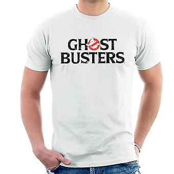 Ghostbusters Black Text Logo Men's T-Shirt