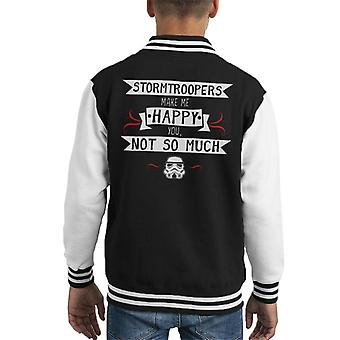 Original Stormtrooper Make Me Happy Kid Varsity Jacket
