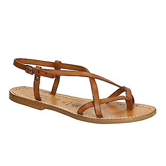 Women's leather sandals Handmade in Italy in vintage cuir