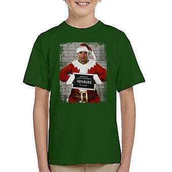 Christmas Mugshot Ronaldo Kid's T-Shirt