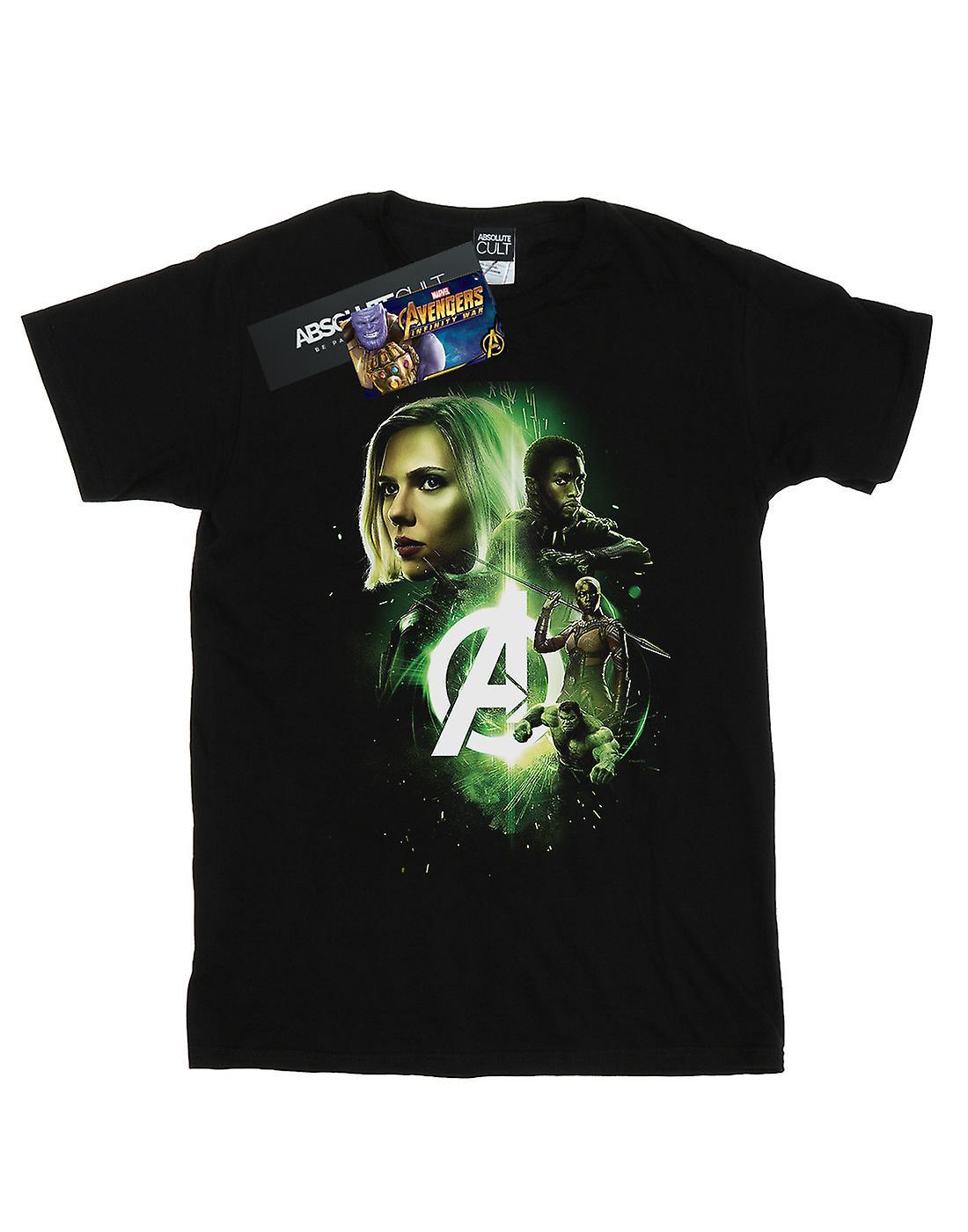 Marvel Girls Avengers Infinity War Widow Panther Team Up T-Shirt