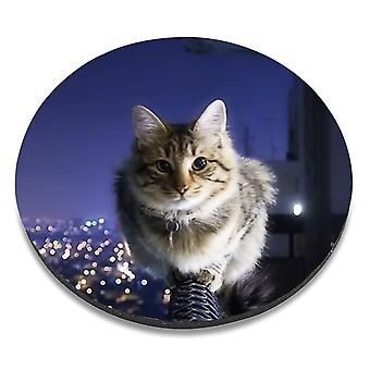 i-Tronixs - Cat Printed Design Non-Slip Round Mouse Mat for Office / Home / Gaming - 3