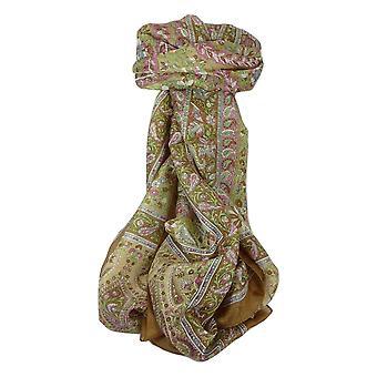 Klassische Paisley langer Schal Maulbeere Sehgal Karamell von Pashmina & Seide Seide