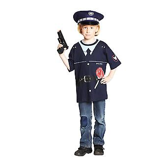 Costume chemise de police, police kids costume T-Shirt