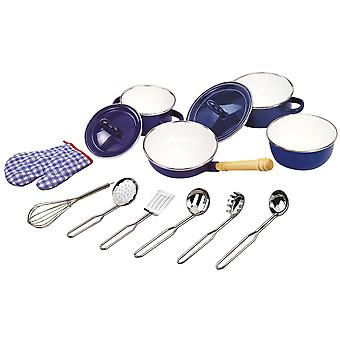 Tidlo Kitchenware Set 13 Piece Children Learning Play Cooking Chef imagine