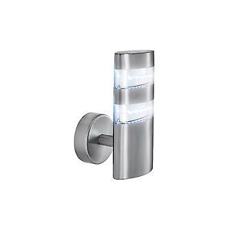 Satin sølv 24 ledet utendørs Wall Light Fixture - søkelys 5308 er Vista