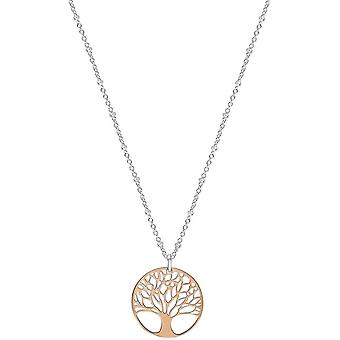 Bella Filigree Tree of Life Pendant - Rose Gold/Silver