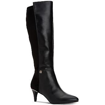 الفاني النسائي هاكوو مغلقة إصبع القدم الركبة أحذية عالية أزياء