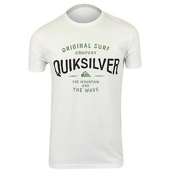 Città di tramonto di QUIKSILVER Mens t-shirt-bianco