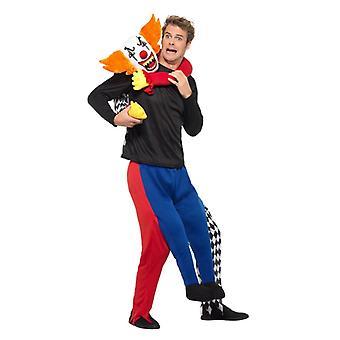 Piggyback Kidnaper Clown Kostüm Huckepack Entführer Karneval Comedy Halloween