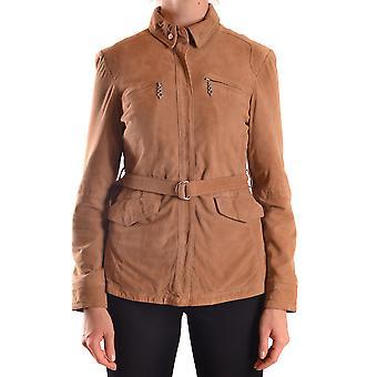 Etiqueta Negra Ezbc183012 Women's Brown Suede Outerwear Jacket