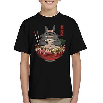 Naapurit Ramen Totoro lasten T-paita