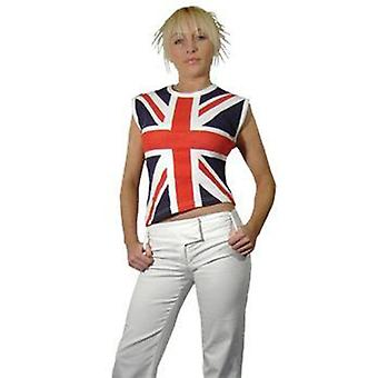 Sv102 allover print union jack punk top