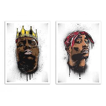 2 Art-Poster - Biggie and Tupac - Bokkaboom