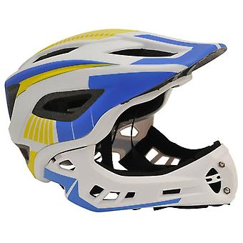 Kiddimoto IKON full face Helmet-wit/blauw