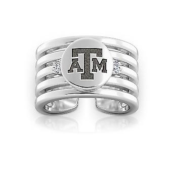 Texas A&M University Diamond Ring In Sterling Silver Design by BIXLER